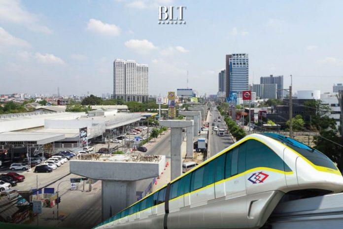 โครงการรถไฟฟ้าสายสีเหลือง ช่วงลาดพร้าว-สำโรง คืบหน้างานโยธาและระบบไฟฟ้าเกิน 50% - BLT Bangkok