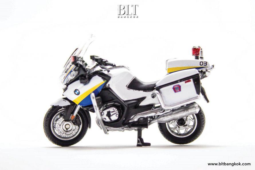 ของเล่นจิ๋ว โมเดลรถจักรยานยนต์ตำรวจไทย BMW R900 RT Tiny City TH02