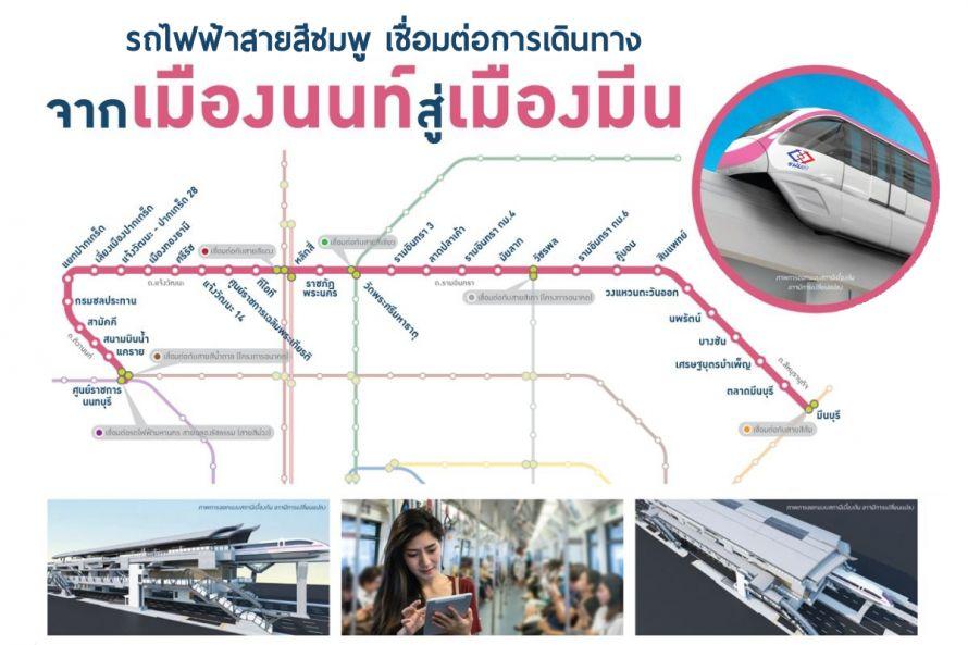 รถไฟฟ้าสายสีชมพู นนทบุรี - มีนบุรี