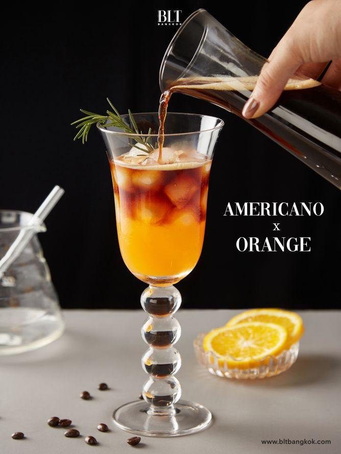 เมนูกาแฟ Americano X Orange ด้วยแคปซูลกาแฟ Nescafe Dolce Gusto Americano Rich Aroma