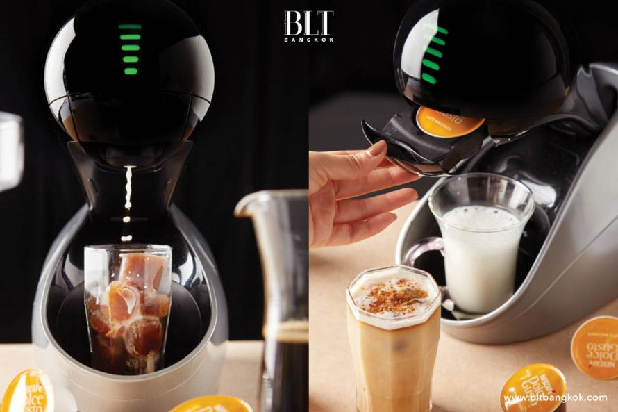 วิธีทำเมนูกาแฟ Latte Macchiato ด้วยเครื่องชงกาแฟ และแคปซูลกาแฟ Nescafe Dolce Gusto