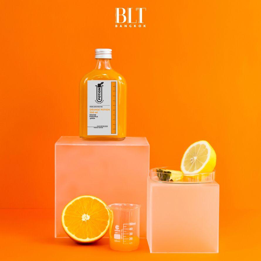 น้ำผลไม้สกัดเย็น 'Awaken' Orange Potion