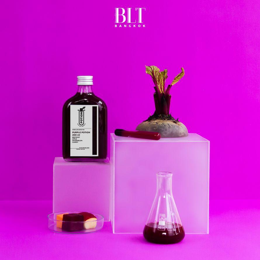น้ำผลไม้สกัดเย็น 'Life Fuel' Purple Potion